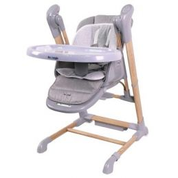 B-Swinging High Chair Wood Grey