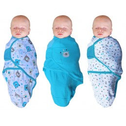 B-Wrap Bear 3-Pack Blauw Small