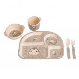 B-Corn Dinner Set Grey Monkey