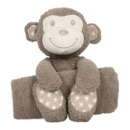 B-plush toy with blanket...